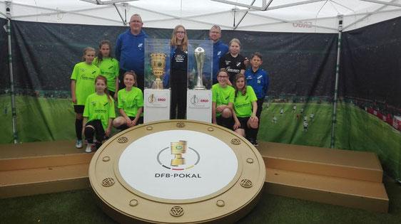 Unsere Jüngsten beim FVM-Cup im Rahmen des DFB-Pokalfinales der Frauen. Foto: Pfaff
