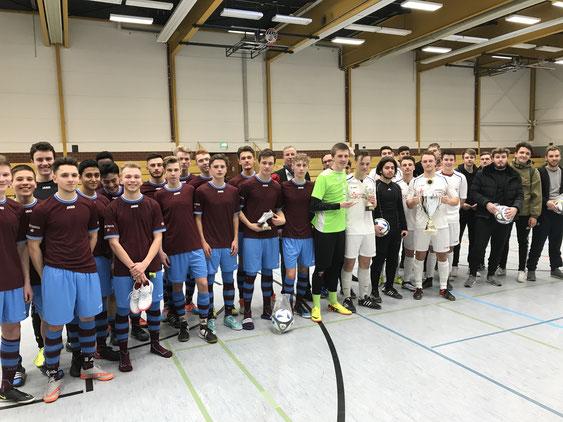 v.li. Goethe-Gymnasium Kassel Team 1+2, Herderschule, Jacob-Grimm-Schule
