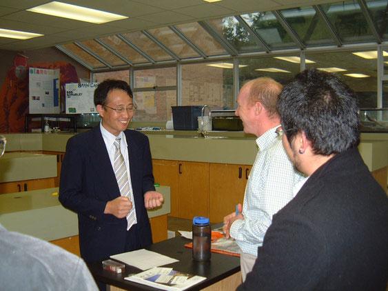 高校の林学の先生と当時高知県庁から研修に来られていた大野さん