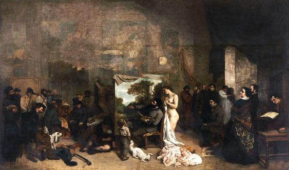 《画家のアトリエ》1855年