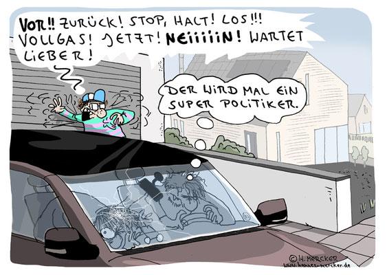 Tagesaktueller Cartoon von H. Mercker, 2020