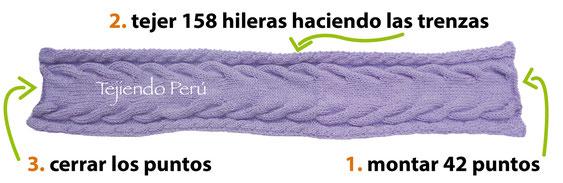 Cómo tejer una capa con trenzas tejida en dos agujas para niñas