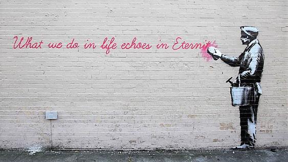 Banksy by www.urbancomfort.de