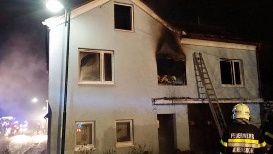 Wohnhausbrand in Hainersdorf 2016