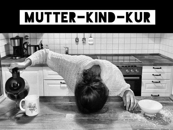 Erschöpfte Mutter bereit für Mutter-Kind-Kur!