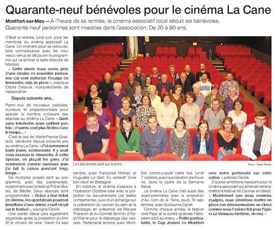 La presse en parle  - Cinema La Cane - Montfort-sur-meu