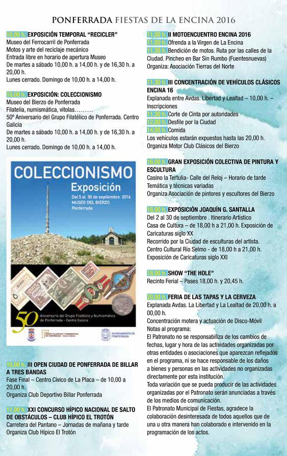 Programa de las Fiestas de la Encina en Ponferrada