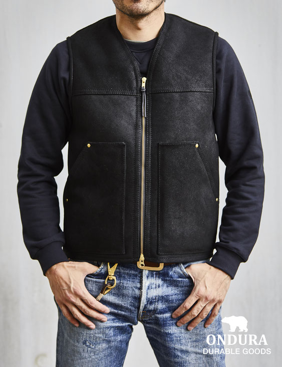 Ondura Sheepskin vest blacksheep