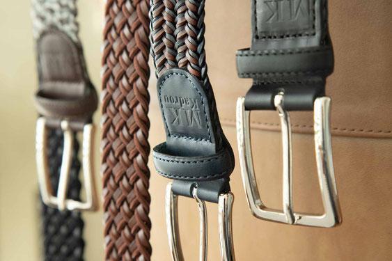 Accessoires Leder Gürtel elastisch braun schwarz