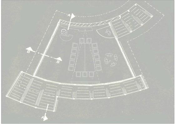 Bild2:Grundriss Gartenpavillon KonferenzpavillonBesprechungspavillonMaleratelierKünstleratelierTeepavillonRelaxenBockhaus-Odenthal Architekten Münster