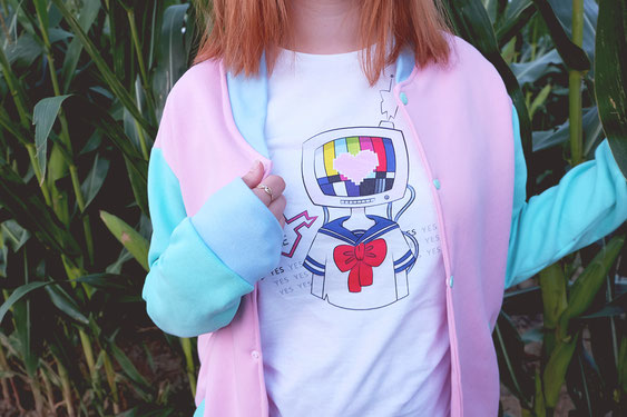 Sweat couleur pastel mode japon