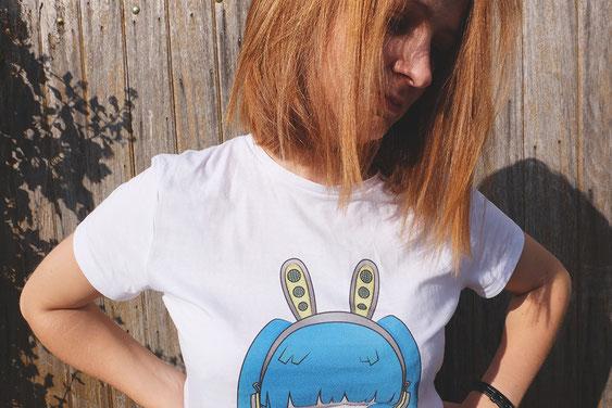 ecchymose noword tee shirt dessin manga lapin