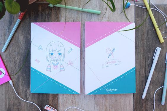 Carnet de note A5 create ecchymose design japon manga