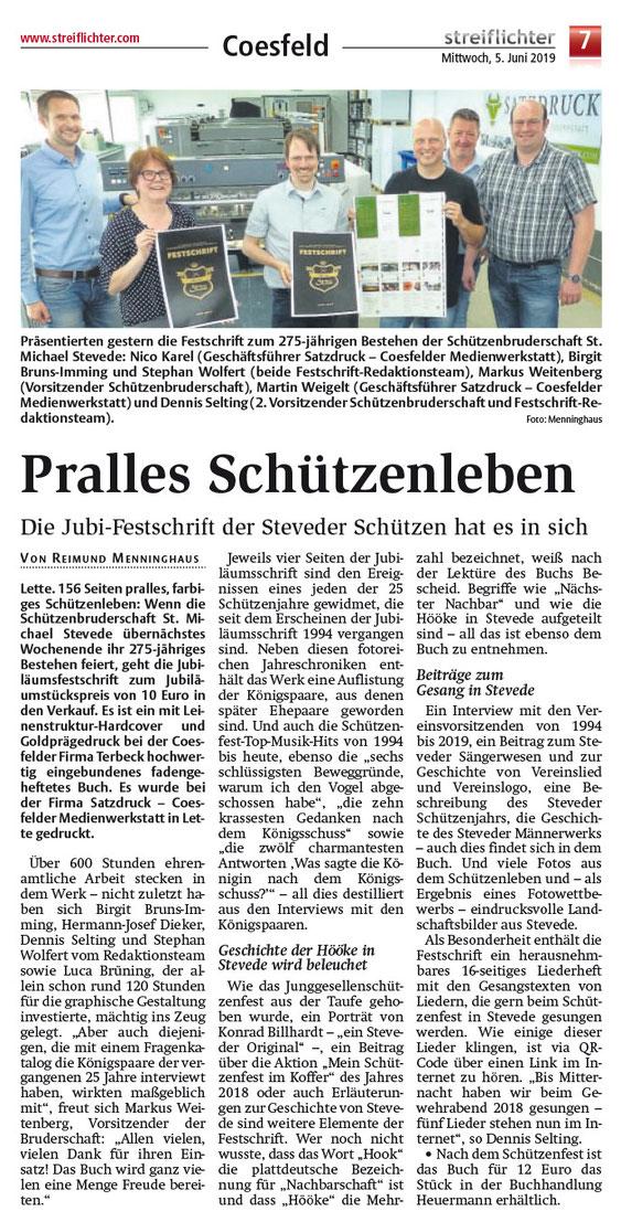 FESTSCHRIFT Zum JUBILÄUM DER SCHÜTZENBRUDERSCHAFT ST. MICHAEL STEVEDE