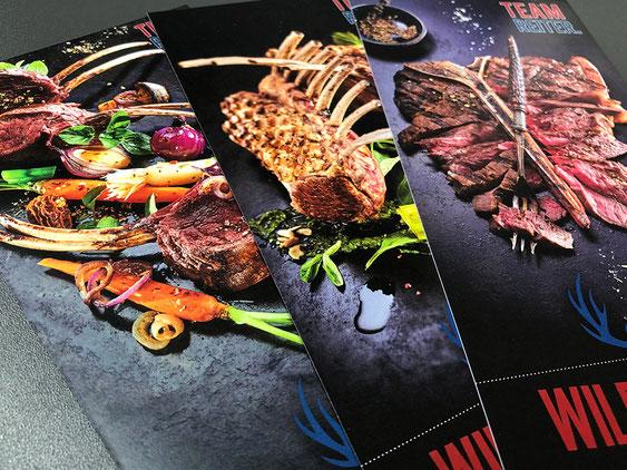 Food-Fotografie mit RGB-Bildern im Digitaldruck auf Monika Minolta mit High Chroma Toner - SATZDRUCK