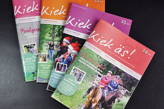 """""""Kiek äs"""" - Das Magazin der Gemeinde Reken erscheint 3x im Jahr."""
