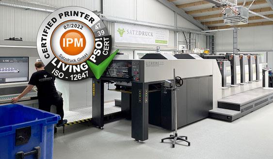 Erneut für 2021 / 2022 Living PSO! zertifiziert - Druckerei SATZDRUCK