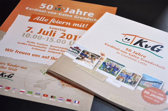 Festschrift / Magazin / Broschüre zum Jubiläum der Kardinal-von-Galen-Grundschule in Coesfeld-Lette - gedruckt und gestaltet von SATZDRUCK  -  wir drucken für NRW!