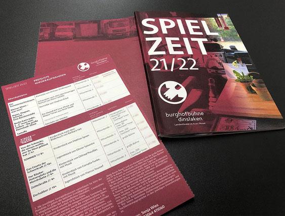 Programmheft Burghofbühne Dinslaken Spielzeit 2021 / 2022 - Satzdruck