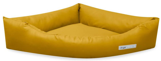 Dogsfavorite Hundebett Dogs Corner in der Farbe Gelb. SALE