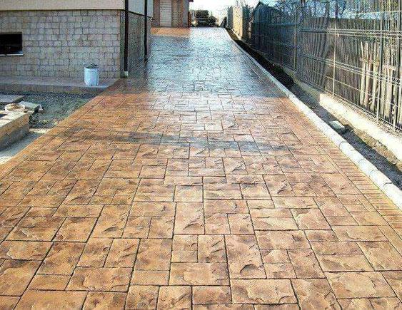 beton amprentat pipera