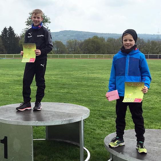Siegerehrung Daniel (1.Platz) und Julius Hehn (3.Platz)
