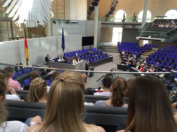 Live zu Gast bei der 173. Sitzung des Deutschen Bundestages