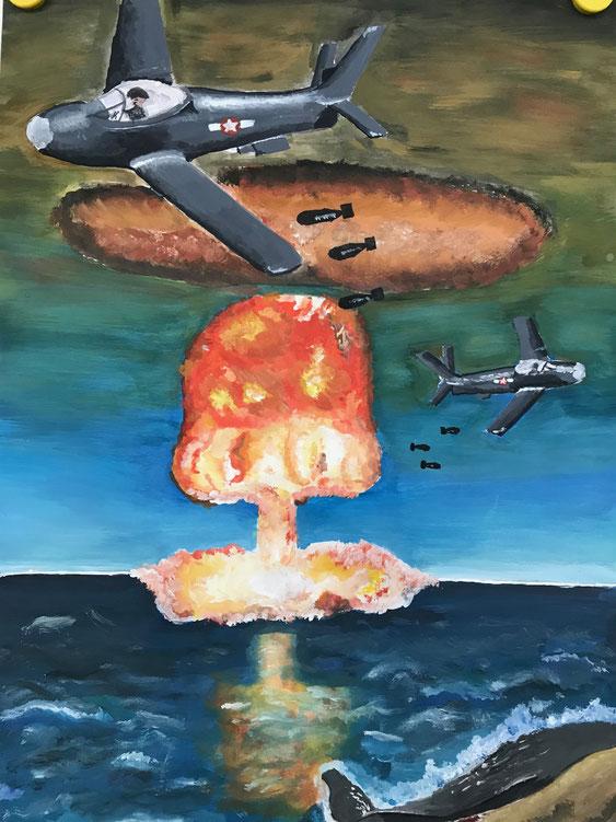 """""""Bomben und Zerstörung"""" von Lisa Dobrowolski (MSS 12)"""