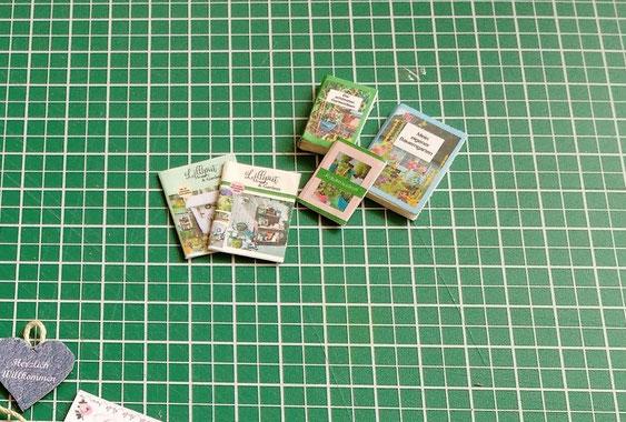 Printies Minibücher und Zeitschriften