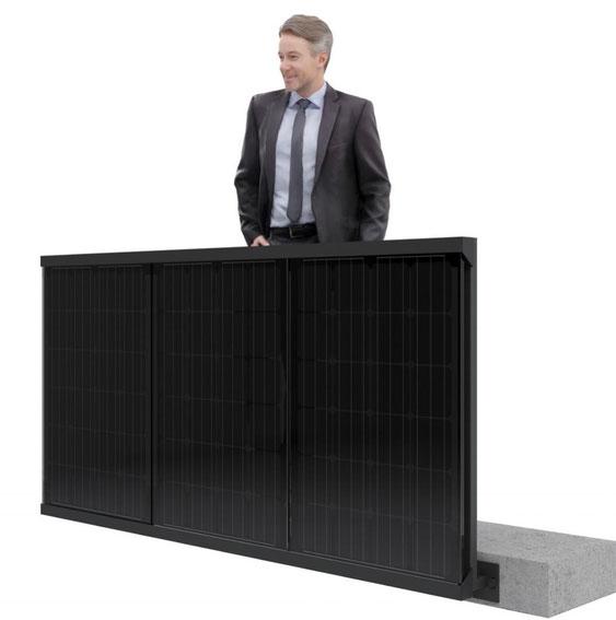 Edeles Solar Balkongeländer