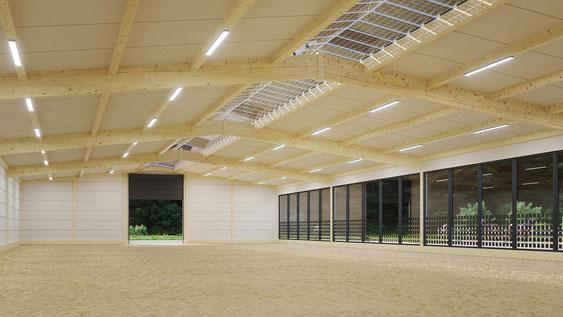 Solardach und Solarfenster an Ihrer Reithalle