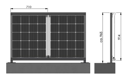 Solarbalkon Balkongeländer aufgesetzte Montage
