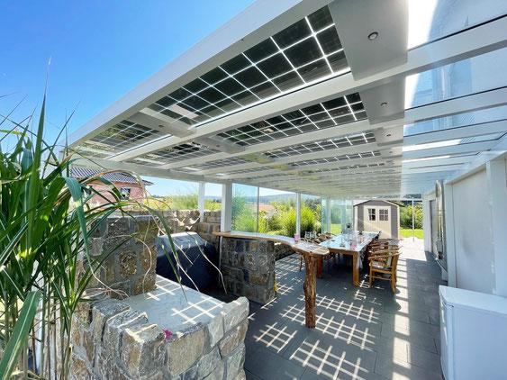 Terrassendach mit Solar bei Bamberg