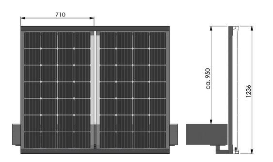Solarbalkon Balkongeländer Deckenmontage