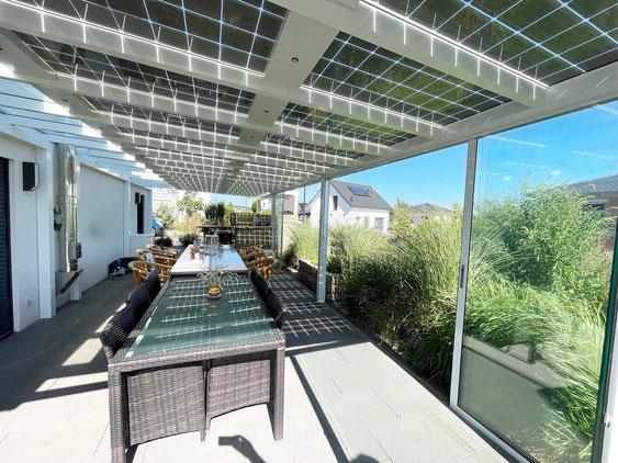 Aluminium Solarterrassendach bei Bamberg