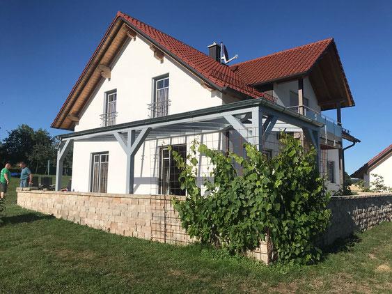 Eck Terrassenüberdachung
