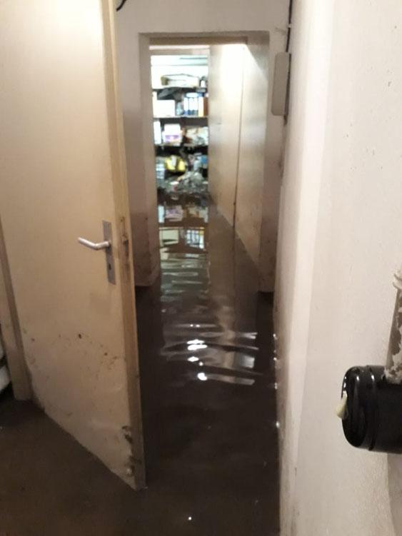Wasserschaden durch Sturmschaden / Hochwasser