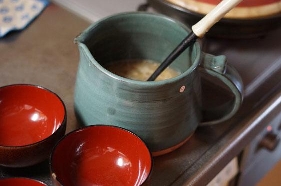 陶芸家のブログ 陶芸家 陶芸 笠間焼き 陶器 土鍋 ピッチャー 味噌汁