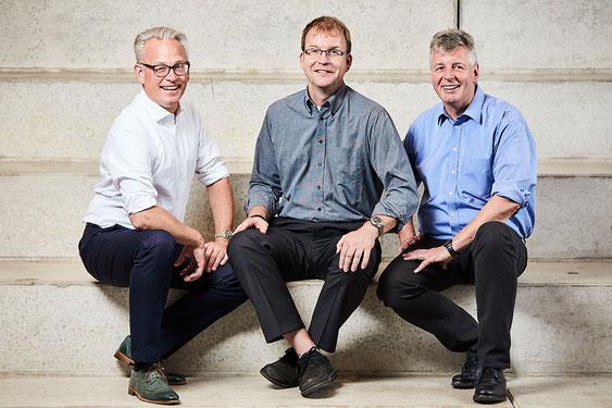 Holger Nußbeck, Dr. Reinhard Vetters und Dr. Helmut Jansen in de Wal