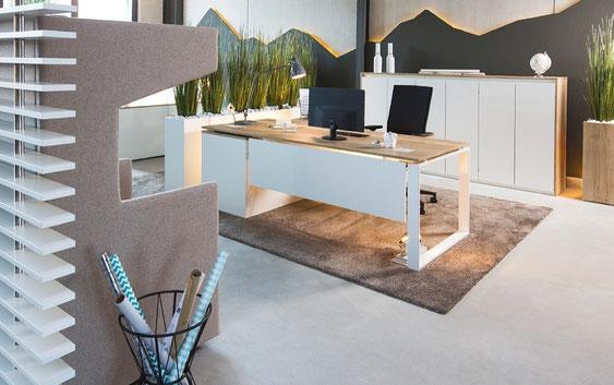 Büromöbel Büro Profibüro Home-Office Schreibtisch Bürokorpus Unterstellkorpus Bürostuhl Bürosessel Febrü