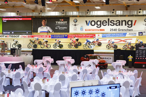 VIP-Catering an der Track Cycling Challenge 2017 im Halleninnenraum