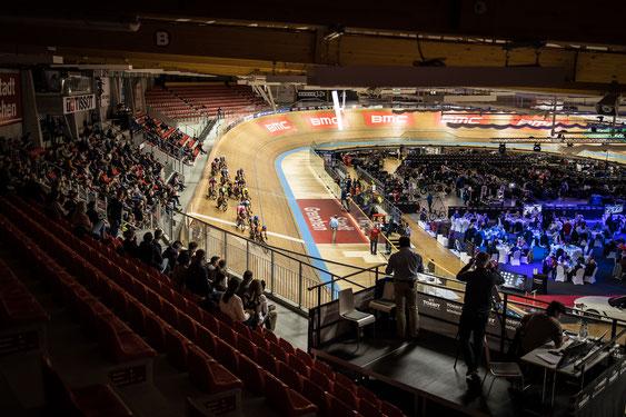 VIP-Catering an der Track Cycling Challenge 2017 im Halleninnenraum