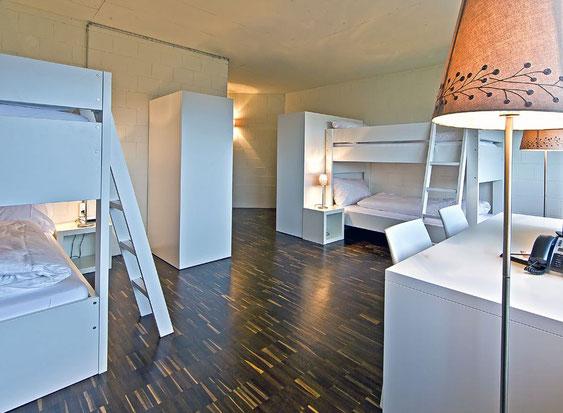 Modern und hell: die Hotelzimmer im Tissot Velodrome