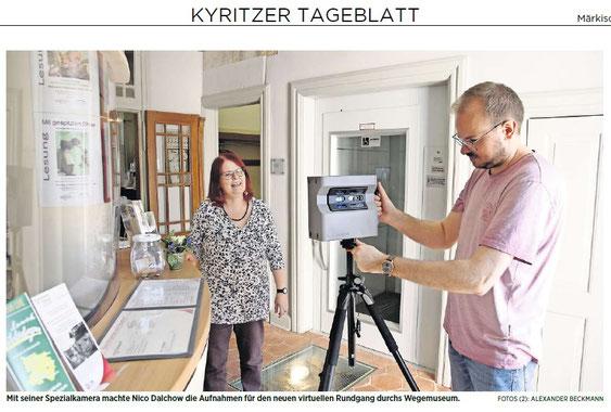 Zeitungsartikel über die Erstellung des 3D Rundgangs