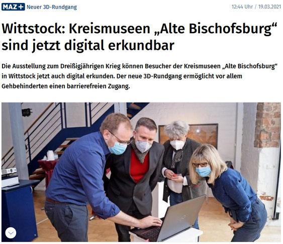 3D Rundgang Alte Bischofsburg MAZ