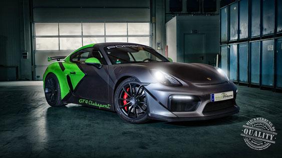 Blickwerbung Crailsheim - Fahrzeugfolierung - Kundenauftrag - Porsche GT4
