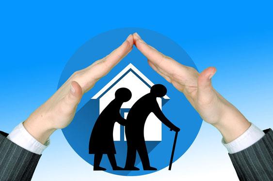 pictogramme pour le maintien des seniors à domicile grâce à la domotique
