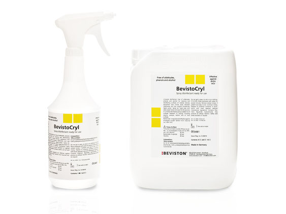 BevistoCryl – surface disinfection without alcohol