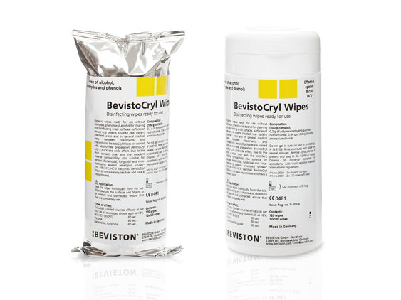 BevistoCryl Wipes* - surface disinfection