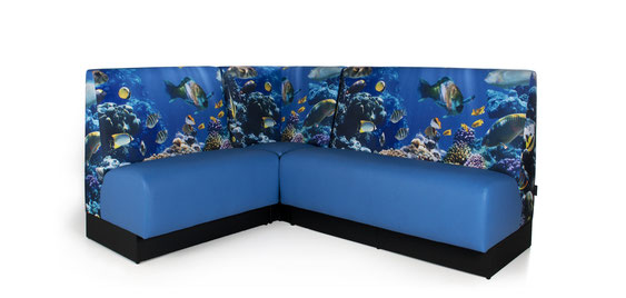 Sofa mit individuellem Photodruck